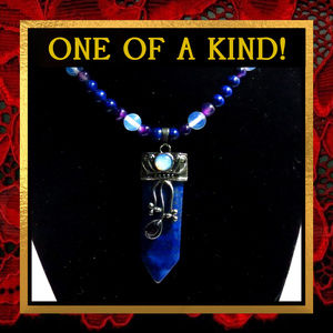 Blue Lapis Lazuli & Opalite Stone Necklace #177